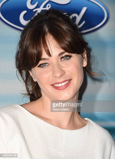 Actress Zooey Deschanel attends the 2014 FOX Fall EcoCasino party at The Bungalow on September 8 2014 in Santa Monica California