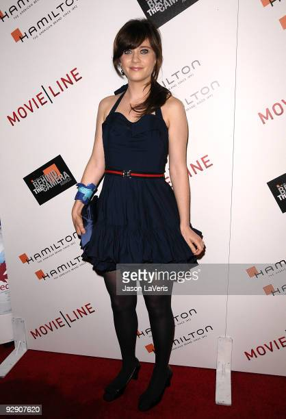 Actress Zooey Deschanel attends the 4th annual Hamilton Behind the Camera Awards at The Highlands club in the Hollywood Highland Center on November 8...