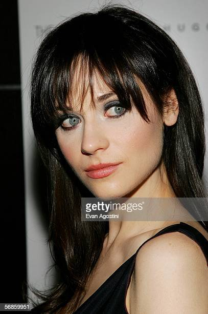 Actress Zooey Deschanel attends the Cinema Society/Hugo Boss screening of Winter Passing at the Tribeca Grand February 15 2006 in New York City