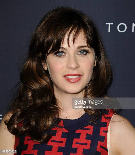 Actress Zooey Deschanel attends the debut of Tommy Hilfiger's Capsule Collection at The London Hotel on April 9 2014 in West Hollywood California