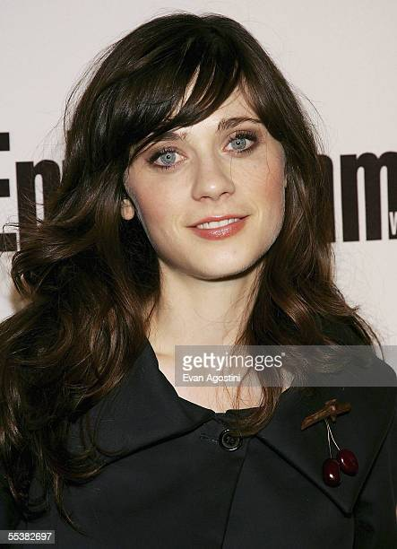 Actress Zooey Deschanel attends the Entertainment Weekly/ Endeavor party at Lobby September 11 2005 in Toronto Ontario