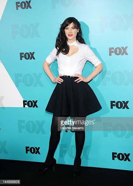 Actress Zooey Deschanel attends the Fox 2012 Programming Presentation PostShow Party at Wollman Rink Central Park on May 14 2012 in New York City