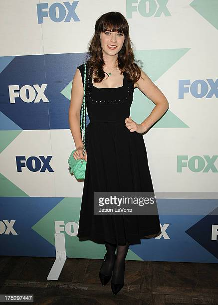 Actress Zooey Deschanel attends the FOX AllStar Party on August 1 2013 in West Hollywood California