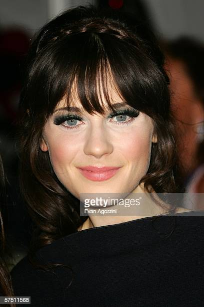 Actress Zooey Deschanel attends the Metropolitan Museum of Art Costume Institute Benefit Gala Anglomania at the Metropolitan Museum of Art May 1 2006...