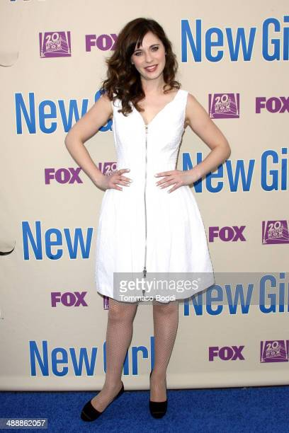 Actress Zooey Deschanel attends the New Girl Season 3 Finale screening and cast QA held at the Zanuck Theater at 20th Century Fox Lot on May 8 2014...
