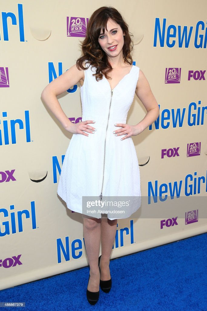 Actress Zooey Deschanel attends the 'New Girl' Season 3 Finale Screening and cast Q&A at Zanuck Theater at 20th Century Fox Lot on May 8, 2014 in Los Angeles, California.