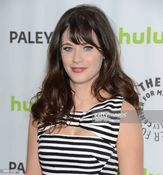 Actress Zooey Deschanel attends the Paley Center For Media's PaleyFest 2013 Honoring 'New Girl' at Saban Theatre on March 11 2013 in Beverly Hills...