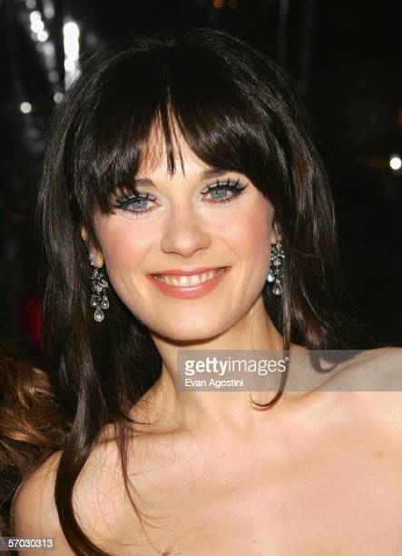 Actress Zooey Deschanel attends the premiere of 'Failure To Launch' at Clearview Chelsea West March 8 2006 in New York City