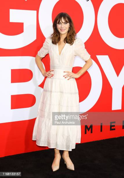 Actress Zooey Deschanel attends the premiere of Universal Pictures' Good Boys at The Regency Village Theatre on August 14 2019 in Westwood California