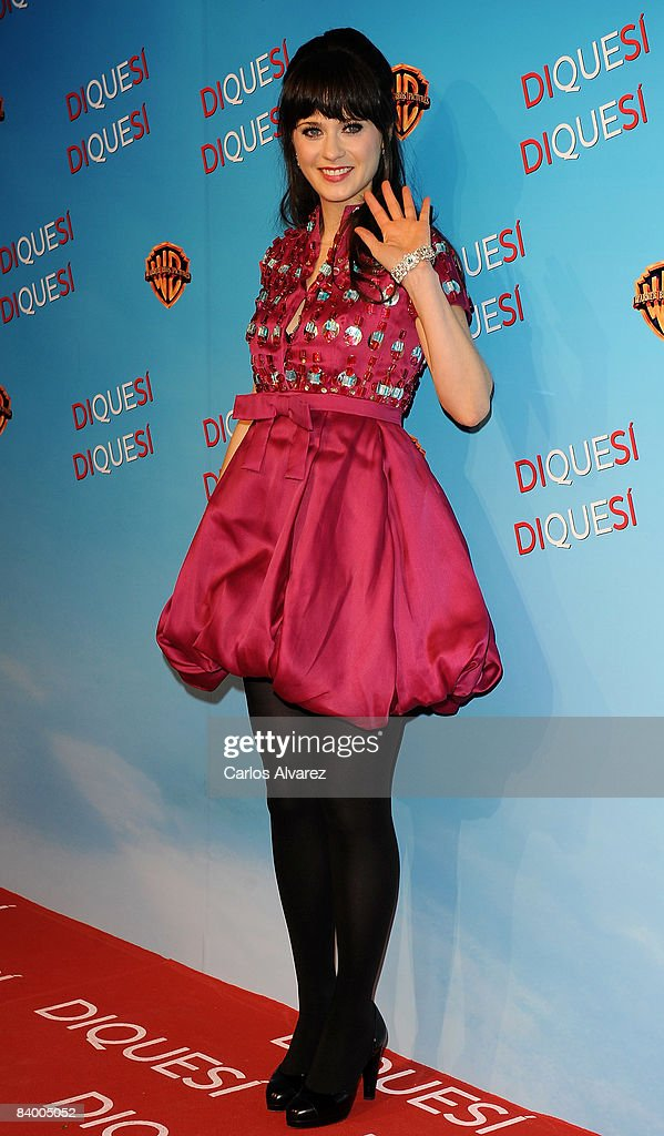 Actress Zooey Deschanel attends the premiere of 'Yes Man' at Capitol Cinema December 11, 2008 in Madrid, Spain.