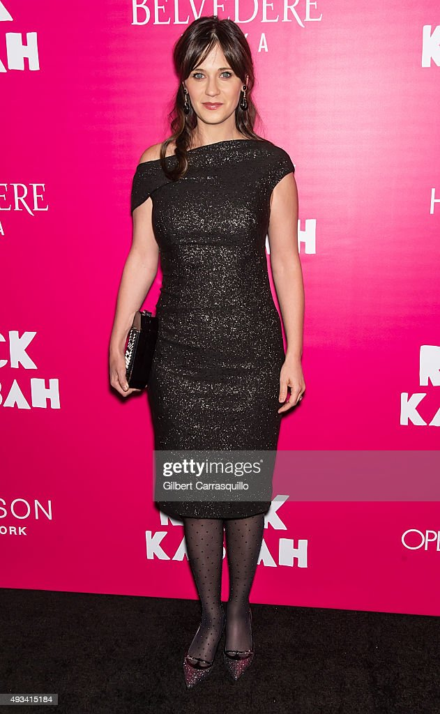 Actress Zooey Deschanel attends the 'Rock The Kasbah' New York Premiere at AMC Loews Lincoln Square on October 19, 2015 in New York City.