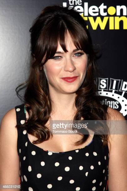Actress Zooey Deschanel attends 'The Skeleton Twins' Los Angeles premiere held at the ArcLight Hollywood on September 10 2014 in Hollywood California
