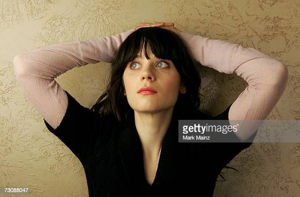 """Actress Zooey Deschanel from the film """"The Go-Getter"""" poses for a portrait during the 2007 Sundance Film Festival on January 23, 2007 in Park City,..."""