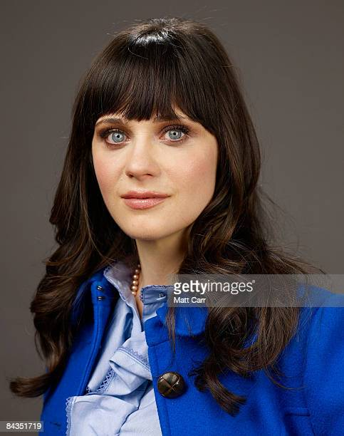 Actress Zooey Deschanel of the film 500 Days Of Summer poses for a portrait at the Film Lounge Media Center during the 2009 Sundance Film Festival on...