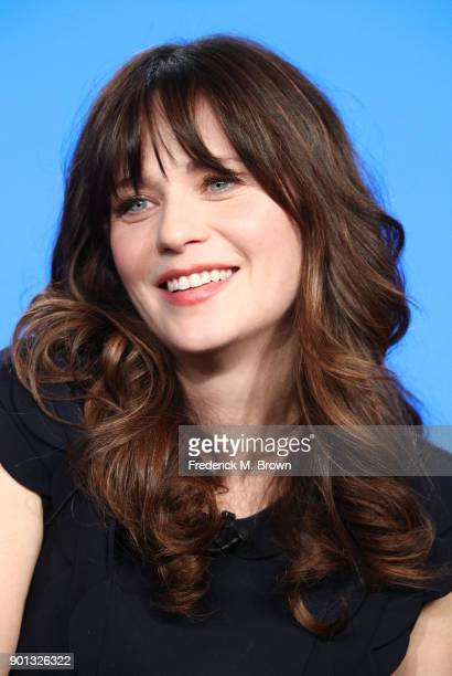 Actress Zooey Deschanel of the television show New Girl speaks onstage during the FOX portion of the 2018 Winter Television Critics Association Press...