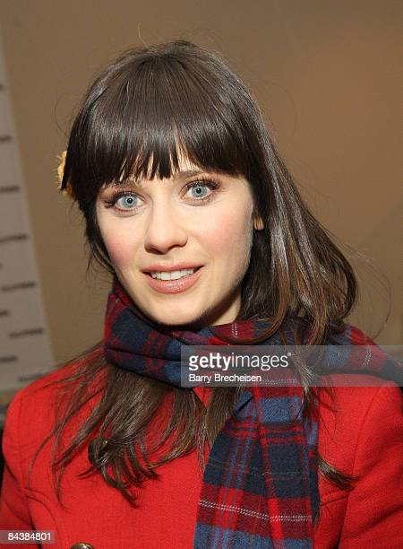 Actress Zooey Deschanel visits the Kari Feinstein Sundance Style Lounge on January 19 2009 in Park City Utah
