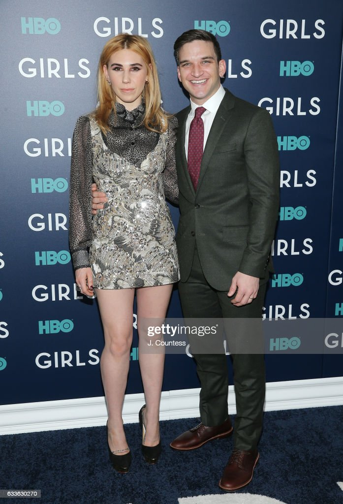 Actress Zosia Mamet and actor Evan Jonigkeit attend The New York Premiere Of The Sixth & Final Season Of 'Girls' at Alice Tully Hall, Lincoln Center on February 2, 2017 in New York City.