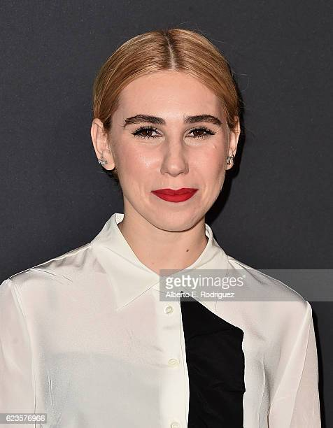 Actress Zosia Mamet attends Prada Presents 'Past Forward' by David O Russell premiere at Hauser Wirth Schimmel on November 15 2016 in Los Angeles...