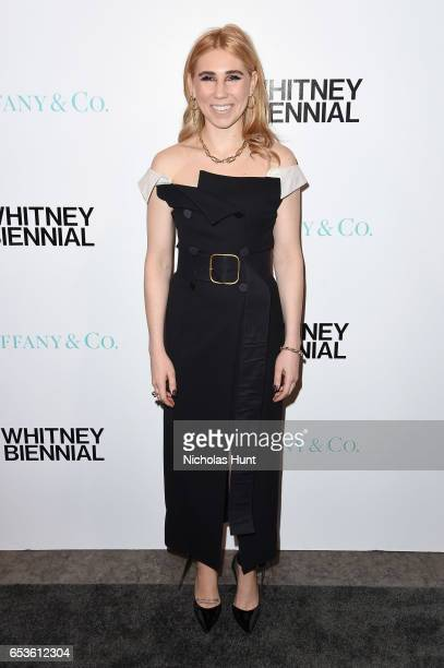 Actress Zosia Mamet attends the 2017 Whitney Biennial presented by Tiffany Co at The Whitney Museum of American Art on March 15 2017 in New York City