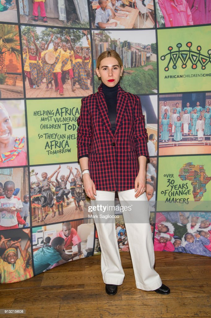Actress Zosia Mamet attends the 2018 African Children's Choir Change Makers Gala at City Winery on February 1, 2018 in New York City.