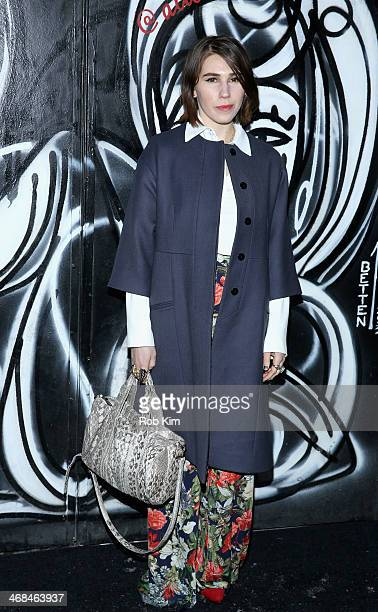 Actress Zosia Mamet attends the alice olivia by Stacey Bendet Fall 2014 presentation during MercedesBenz Fashion Week Fall 2014 at The McKittrick...