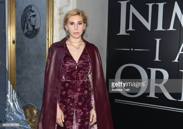 Actress Zosia Mamet attends the American Express Celebrates The New Platinum Card With Hamilton Takeover Experience on April 1 2017 in New York City