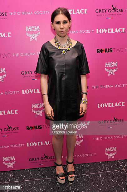 Actress Zosia Mamet attends The Cinema Society and MCM with Grey Goose screening of Radius TWC's Lovelace at MoMA on July 30 2013 in New York City