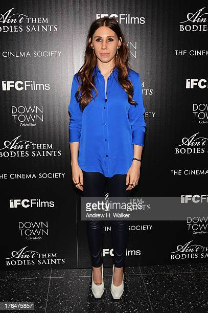Actress Zosia Mamet attends the Downtown Calvin Klein with The Cinema Society screening of IFC Films' 'Ain't Them Bodies Saints' at the Museum of...