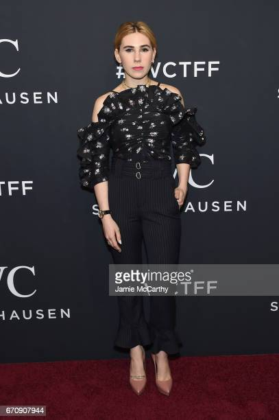 Actress Zosia Mamet attends the exclusive gala event 'For the Love of Cinema' during the Tribeca Film Festival hosted by luxury watch manufacturer...