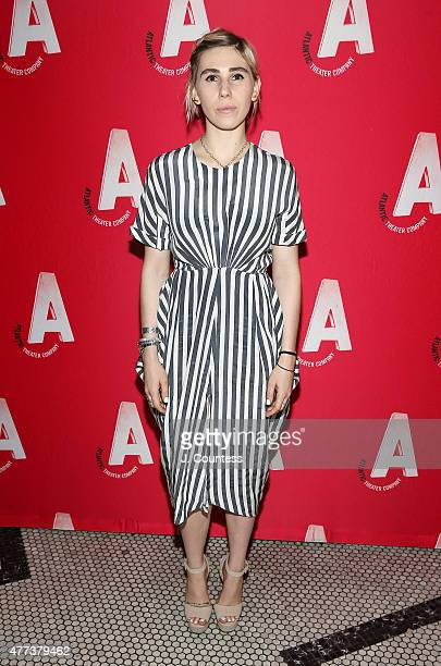 Actress Zosia Mamet attends the 'Ghost Stories The Shawl And Prairie Du Chien' Off Broadway Opening Night after party at Jake's Saloon on June 16...