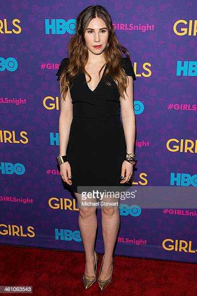 """Actress Zosia Mamet attends the """"Girls"""" season three premiere at Jazz at Lincoln Center on January 6, 2014 in New York City."""