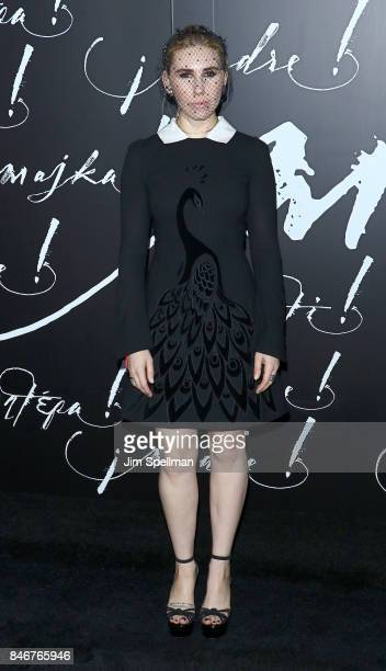 Actress Zosia Mamet attends the 'mother' New York premiere at Radio City Music Hall on September 13 2017 in New York City