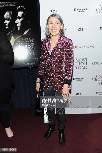 "Actress Zosia Mamet attends the New York premiere of ""A Most Violent Year"" at Florence Gould Hall on December 7, 2014 in New York City."