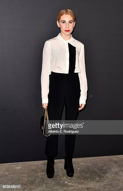 Actress Zosia Mamet attends the premiere of 'Past Forward' a movie by David O Russell presented by Prada on November 15 2016 at Hauser Wirth Schimmel...