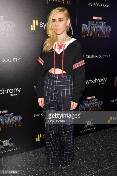 Actress Zosia Mamet attends the screening of Marvel Studios' 'Black Panther' hosted by The Cinema Society on February 13 2018 in New York City