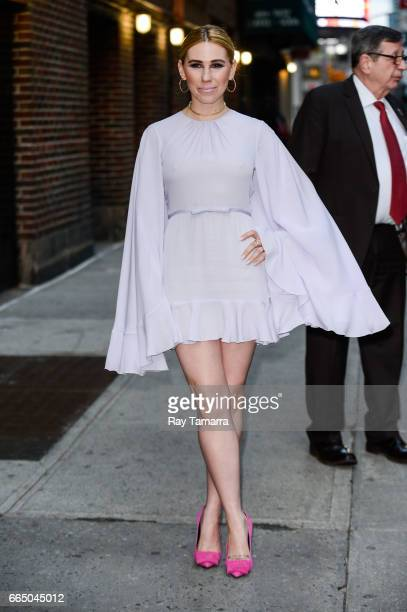 Actress Zosia Mamet enters the 'The Late Show With Stephen Colbert' taping at the Ed Sullivan Theater on April 05 2017 in New York City