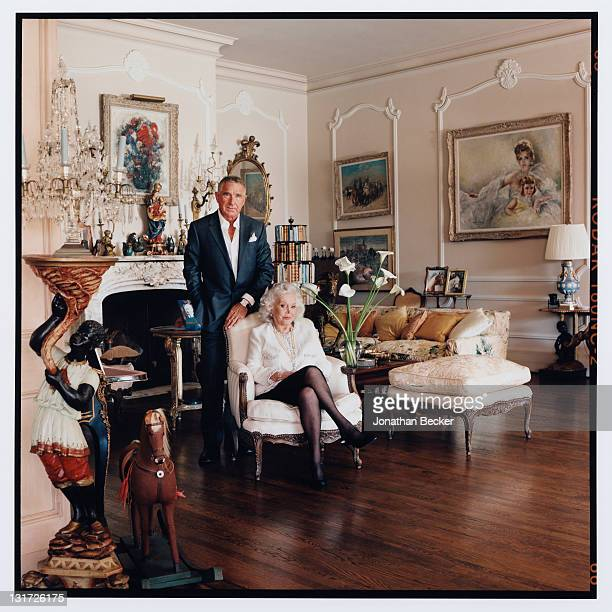 Actress Zsa Zsa Gabor and husband Prince Frederic von Anhalt are photographed at home for Vanity Fair Magazine on May 5 2007 in Bel Air California