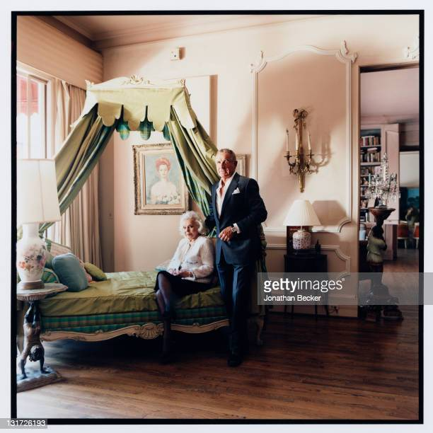 Actress Zsa Zsa Gabor and husband Prince Frederic von Anhalt are photographed at home for Vanity Fair Magazine on May 5, 2007 in Bel Air, California.