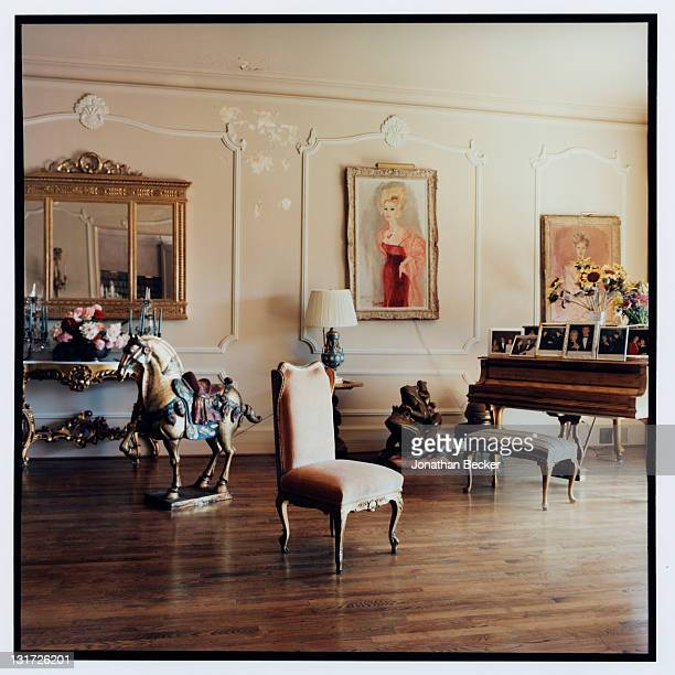Actress Zsa Zsa Gabor and Prince Frederic von Anhalt's home is photographed for Vanity Fair Magazine on May 5, 2007 in Bel Air, California.
