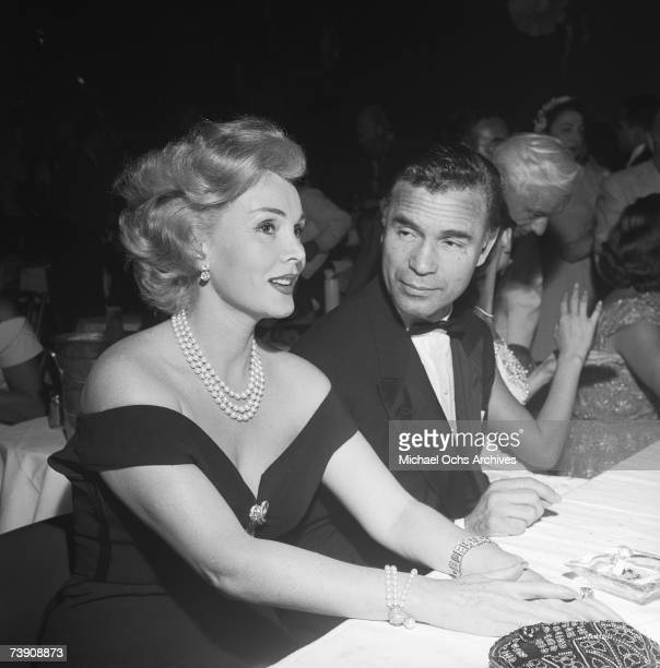 Actress Zsa Zsa Gabor attends an event at the Mocambo nightclub with Porfirio Rubirosa on August 2 1954 in Los Angeles California