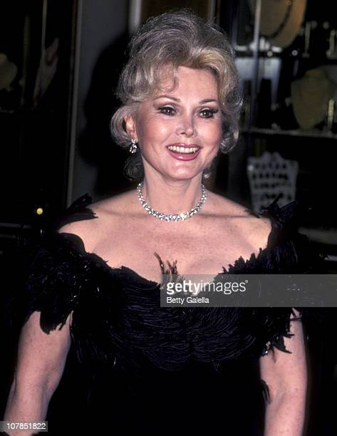 Actress Zsa Zsa Gabor attends Gala Evening In Monaco Benefit on April 24 1981 at the Beverly Hilton Hotel in Beverly Hills California