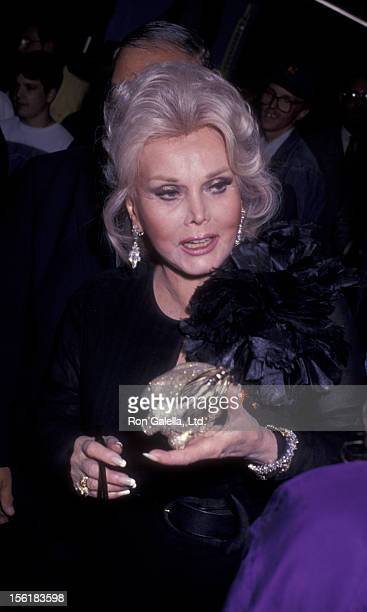 Actress Zsa Zsa Gabor attends the taping of 'The Joan Rivers Show' on May 26 1993 at CBS Broadcasting Center in New York City
