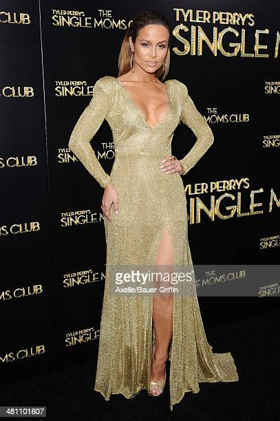 Actress Zulay Henao arrives at the Los Angeles premiere of 'Tyler Perry's The Single Moms Club' at ArcLight Cinemas Cinerama Dome on March 10 2014 in...