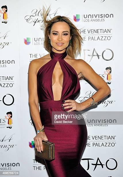 Actress Zulay Henao arrives at the Padres Contra El Cancer's 14th annual 'El Sueno de Esperanza' celebration at The Venetian Las Vegas on November 1...