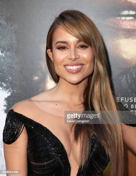 Actress Zulay Henao attends the premiere of Codeblack Films' Traffik at ArcLight Hollywood on April 19 2018 in Hollywood California