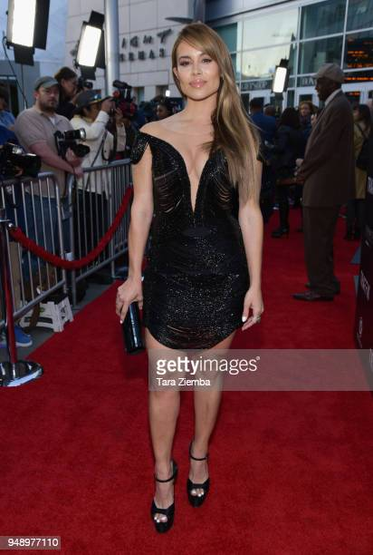 Actress Zulay Henao attends the premiere of Codeblack Films' 'Traffik' at ArcLight Hollywood on April 19 2018 in Hollywood California