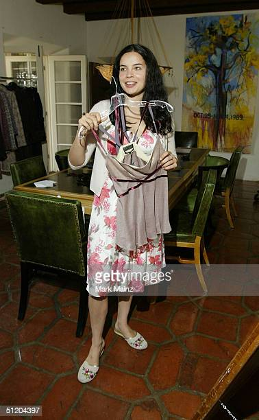 Actress Zuleikha Robinson attends the Nina Morris Trunk Show at Patric Reeves' home August 21 2004 in Los Feliz California