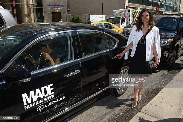 Actress Zuleikha Robinson seen around Spring 2016 New York Fashion Week The Shows Day 7 on September 16 2015 in New York City