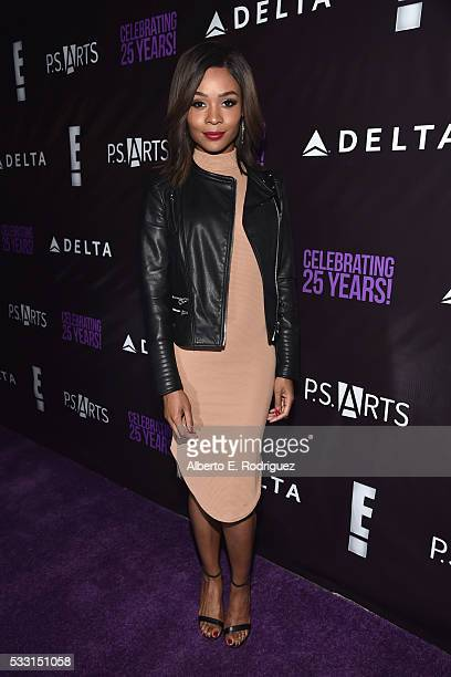 Actress Zuri Hall attends PS Arts' The pARTy at NeueHouse Hollywood on May 20 2016 in Los Angeles California