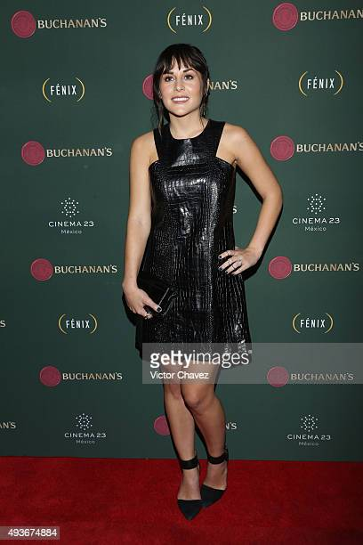 Actress Zuria Vega attends Premio Buchanana's A la grandeza del Cine Mexicano red carpet at Campo Marte on October 21 2015 in Mexico City Mexico